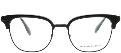 Alexander McQueen AM 0152O 001 Square Metal Black Eyeglasses with Demo Lens