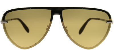 Alexander McQueen AM 0157SA 002 Aviator Metal Ruthenium/ Gunmetal Sunglasses with Bronze Mirror Lens