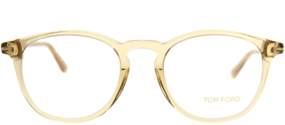 Tom Ford FT 5401 045 Round Plastic Brown Eyeglasses with Demo Lens