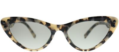Miu Miu MU 05TS KAD3M1 Cat-Eye Plastic Tortoise/ Havana Sunglasses with Grey Gradient Lens