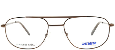 Denim Eyewear Denim 133 1D1 Square Metal Brown Eyeglasses with Demo Lens