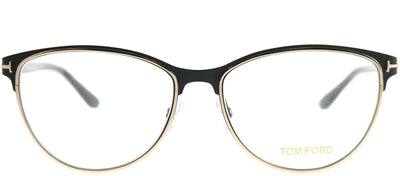 Tom Ford FT 5420 005 Cat-Eye Metal Black Eyeglasses with Demo Lens