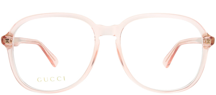 Gucci GG 0259O 005 Square Plastic Blue Eyeglasses with Demo Lens