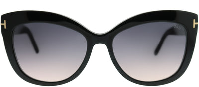 Tom Ford TF 524 01B Cat-Eye Plastic Black Sunglasses with Grey Gradient Lens