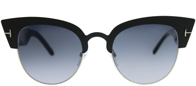 Tom Ford TF 607 05C Cat-Eye Metal Black Sunglasses with Grey Mirror Lens