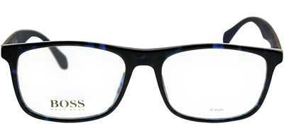 Hugo Boss BOSS 0779 RAK Rectangle Plastic Blue Eyeglasses with Demo Lens