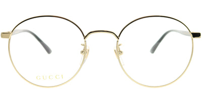 Gucci Korean Fit GG 0297OK 001 Round Metal Gold Eyeglasses with Demo Lens