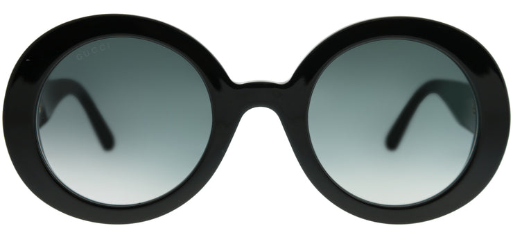 Gucci GG 0319S 001 Round Plastic Black Sunglasses with Grey Gradient Lens