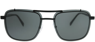 Prada PR 59US 1AB5S0 Square Metal Black Sunglasses with Grey Lens