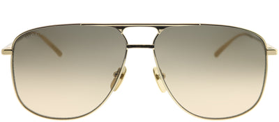 Gucci GG 0336S 001 Aviator Metal Gold Sunglasses with Brown Gradient Lens