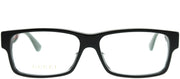 Gucci GG 0344OA 001 Rectangle Plastic Black Eyeglasses with Demo Lens