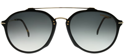 Carrera CA Carrera171 WR7 9O Aviator Plastic Black Sunglasses with Dark Grey Gradient Lens