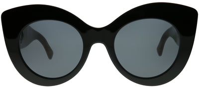 Fendi FF 0306 R60 IR Cat-Eye Plastic Black Sunglasses with Grey Lens