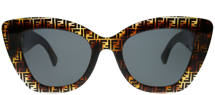 Fendi FF 0327 086 IR Cat-Eye Plastic Tortoise/ Havana Sunglasses with Grey Lens