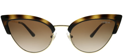 Vogue Eyewear VO 5212S W65613 Cat-Eye Plastic Tortoise/ Havana Sunglasses with Brown Gradient Lens
