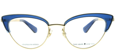 Kate Spade KS Jailyn PJP Cat-Eye Plastic Blue Eyeglasses with Demo Lens