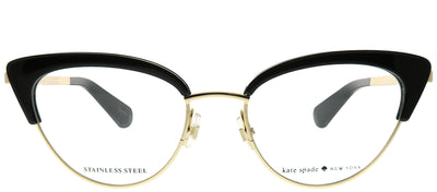 Kate Spade KS Jailyn 807 Cat-Eye Plastic Black Eyeglasses with Demo Lens