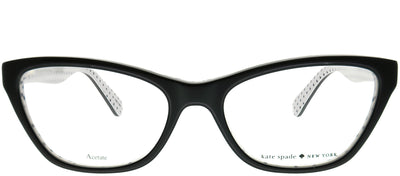Kate Spade KS Alaysha 807 Cat-Eye Plastic Black Eyeglasses with Demo Lens
