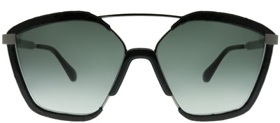 Jimmy Choo JC Leon 807 9O Square Plastic Black Sunglasses with Dark Grey Gradient Lens