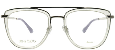 Jimmy Choo JC 219 900 Square Metal Clear Eyeglasses with Demo Lens