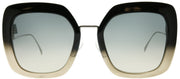 Fendi FF 0317 7C5 PR Square Plastic Black Sunglasses with Grey Gradient Lens