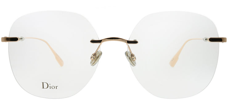 Dior CD StellaireO6 DDB Rimless Metal Gold Eyeglasses with Demo Lens