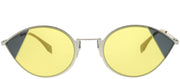 Fendi FF 0342 B1Z HO Cat-Eye Metal Silver Sunglasses with Yellow Lens