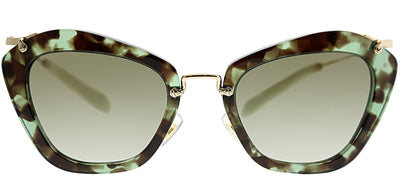 Miu Miu MU 10NS UAG4K155 Fashion Plastic Green Sunglasses with Brown Gradient Lens