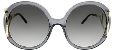 Chloe CE 703S 035 Round Plastic Grey Sunglasses with Grey Gradient Lens
