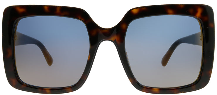 Stella McCartney SC 0093S 004 Square Plastic Tortoise/ Havana Sunglasses with Bronze Mirror Lens
