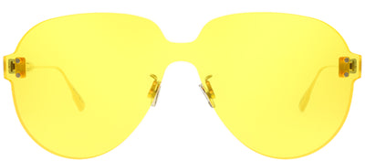 Dior CD ColorQuake3 40G HO Aviator Plastic Yellow Sunglasses with Yellow Lens