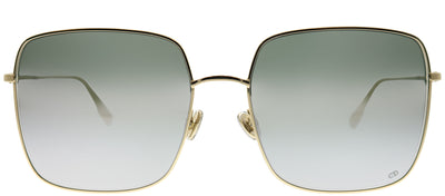 Dior CD Stellaire1 83I 0T Square Metal Gold Sunglasses with Silver Mirror Lens