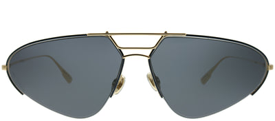 Dior CD Stellaire5 000 2K Oval Metal Gold Sunglasses with Grey Lens