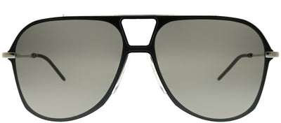 Dior Homme CD 0224S N7I 0T Aviator Plastic Black Sunglasses with Silver Mirror Lens