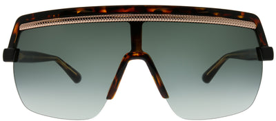 Jimmy Choo JC Pose 086 9O Shield Plastic Tortoise/ Havana Sunglasses with Dark Grey Gradient Lens
