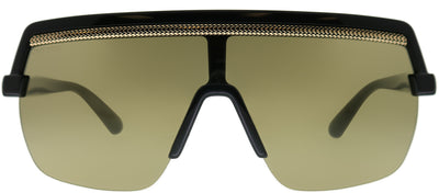 Jimmy Choo JC Pose 807 VP Shield Plastic Black Sunglasses with Gold Mirror Lens