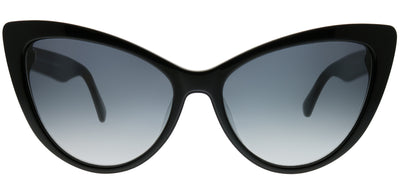 Kate Spade KS Karina 807 9O Cat-Eye Plastic Black Sunglasses with Dark Grey Gradient Lens