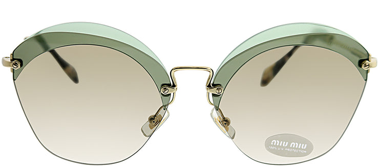 Miu Miu MU 53SS VX15J263 Fashion Metal Green Sunglasses with Brown Lens
