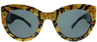 Versace VE 4353 528387 Cat-Eye Plastic Yellow Sunglasses with Grey Lens