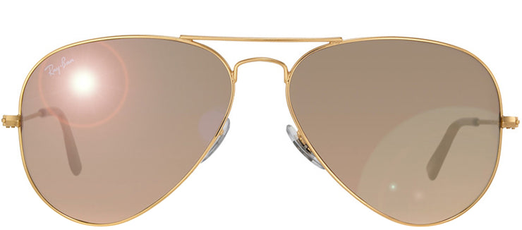 Ray-Ban RB 3025 001/3E Aviator Metal Gold Sunglasses with Red/Violet Gradient Lens