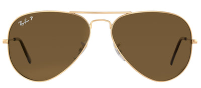 Ray-Ban RB 3025 001/57 Aviator Metal Gold Sunglasses with Brown Polarized Lens