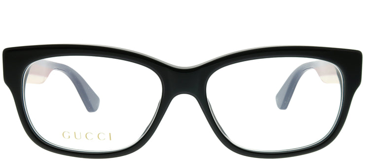 Gucci GG 0278O 001 Rectangle Plastic Black Eyeglasses with Demo Lens