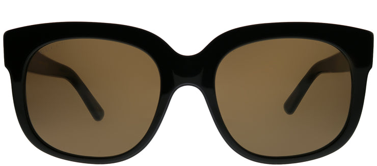 Gucci GG 0361S 003 Square Plastic Black Sunglasses with Brown Lens