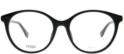 Fendi FF 0336/F 807 Round Plastic Black Eyeglasses with Demo Lens