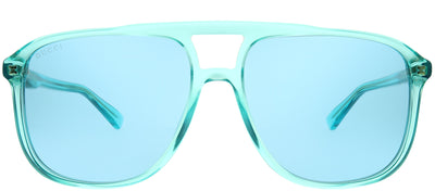 Gucci GG 0262S 003 Aviator Plastic Blue Sunglasses with Light Blue Lens