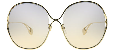 Gucci GG 0362S 003 Round Metal Gold Sunglasses with Light Brown Gradient Lens