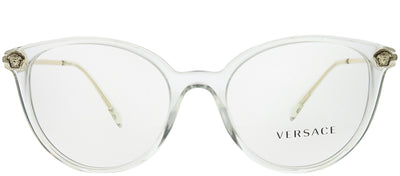 Versace VE 3251B 148 Round Plastic Clear Eyeglasses with Demo Lens