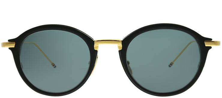 Thom Browne TB TB-110-A-T-BLK-GLD-48 Round Metal Gold Sunglasses with Dark Grey AR Lens
