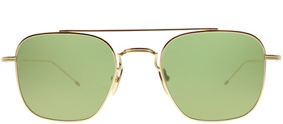 Thom Browne TB TBS907-50-01 Square Metal Gold Sunglasses with Gold Mirror AR Lens