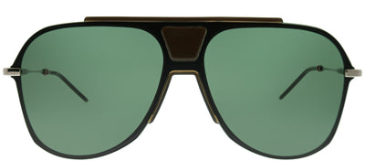 Dior Homme CD 0224S TCG O7 Aviator Plastic Black Sunglasses with Green Lens